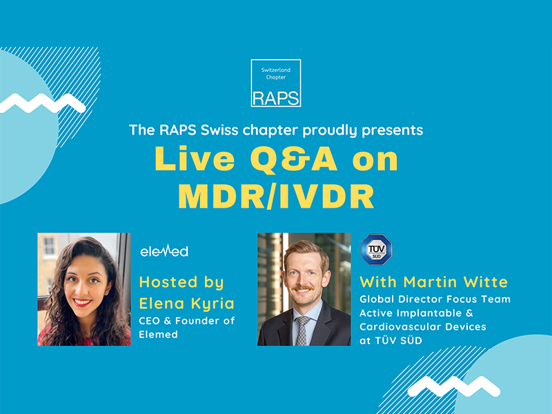 Live Q&A on MDR/IVDR with Martin Witte
