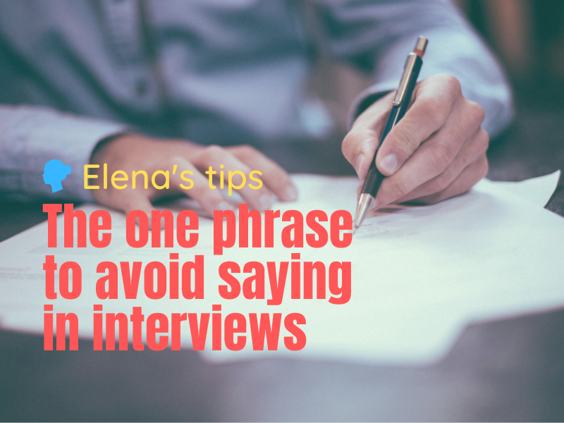 Business men who make notes during an interview