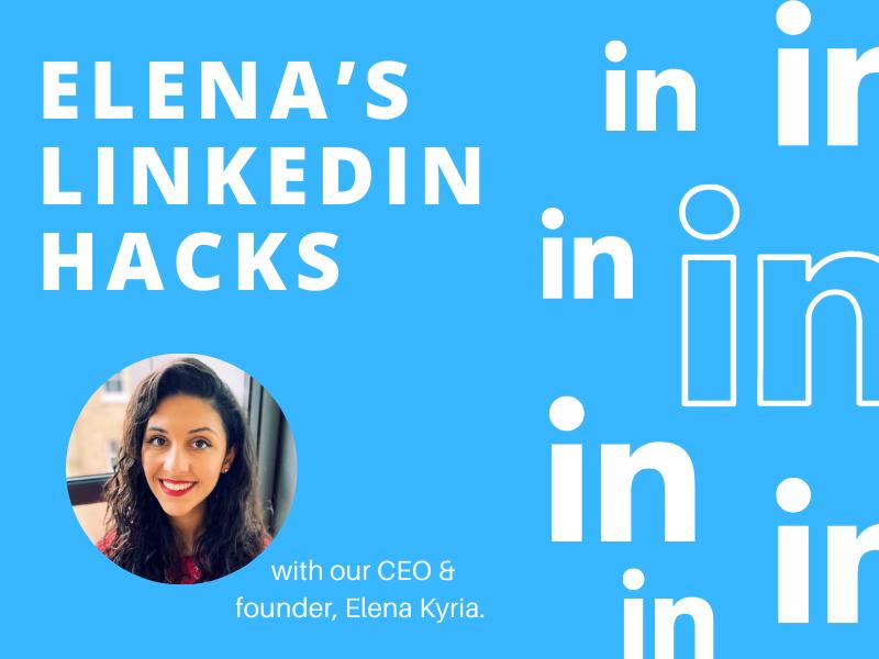 Thumbnail Elena's Linkedin Hacks